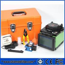 FTTx Core Alignment Fiber optic Splicer Orientek T40 Fiber Optic Splicing Machine with FIS stripper Fiber Optic Cleaver