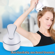 Electric head massager African hand brain scalp acupuncture point massage device