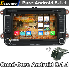 Pure Android 5.1 Car DVD For VW Passat b6 b7 cc Jetta Touran Scirocco Sharan Transporter T5 EOS with GPS Radio Rear View Camera