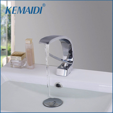 KEMAIDI Modern Washbasin Design Bathroom Faucet Mixer Waterfall Hot And Cold Water Taps For Basin Of Bathroom(China)