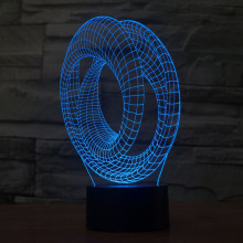 3D Night Light LED Color Changing Lamp Line Design Art Bedlamp Table Lamp Novelty Kids Gift Desk Abajur Touch Switch USB Light