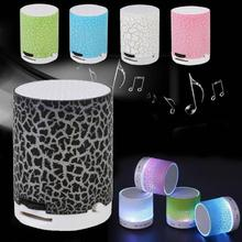 Cewaal New Arrival Rechargeable Audio Speaker LED Light Crack Support TF Card MP3 Music Player Professional Portable Audio Gift(China)