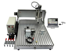 CNC 6040 Z-VFD 1.5KW  4axis USB prort water cooling spindle wood drilling router pcb engraving machine