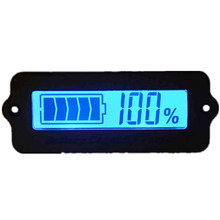 Blue 12V LY6W Lead Acid Battery Capacity Indicator LCD Digit Display Meter Lithium Battery Power Detector Tester Voltmeter