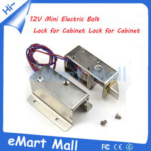 Free shipping Cabinet Door Electric Lock Mini Electric Bolt Lock DC 12V FOR Drawer/Sauna Lock