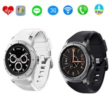 Round smart watch clock GW10 support Bluetooth WiFi 2G/3G Android 5.1 Fitness Tracker Heart Rate smartwatch PK Samsung Gear S3