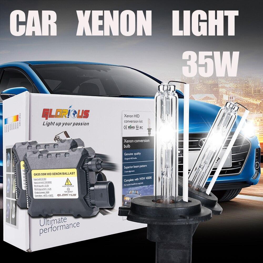 DC 12V 35W silm ballast block HID xenon kit xenon 35W 9006 HB4 6000K 4300K 5000K 8000K lamp light for car headlight<br><br>Aliexpress