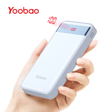 Yoobao 20000 mAh Power Bank Ultra Thin Pover Bank Portable Backup Battery beautiful Powerbank For Xiaomi MI Iphone 7 6 5 Huawei(China)