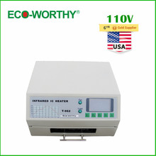 ECO USA Stock 110V T962 Digital Auto Infrared IC Heater Reflow Oven SMD Solder BGA 180*235mm 800W(China)