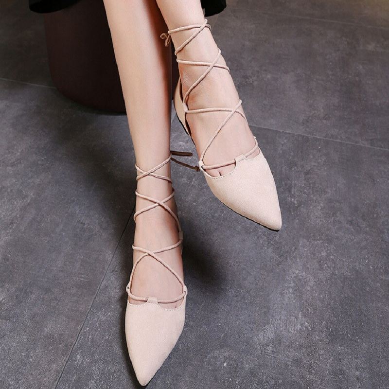 2017 Fashion Women Pumps Roman Style Sandals Lace up flat Cut Outs Shoes Summer Open Toe Sapato Femininos Plus size 33-43<br>