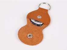 100pcs One Hundred Wholesale Leather Guitar Picks Soft Case Keychain (Brown/Black/Red)