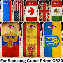 Retro National Flag Phone Case Cover For Samsung Galaxy Grand Prime Duos G5308 G530H G5306W 531F G530 G530W G530F G531 Bag Capa
