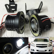 "2015 New LED COB car light DC 12V High Power LED Fog Light Daytime Running Light DRL Eagle Eye Light Car 3"" 76mm"