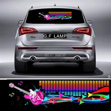 90*25cm Streamer guitar Flash Car Sticker Music Rhythm LED EL Sheet Light Lamp Sound Music Activated Equalizer