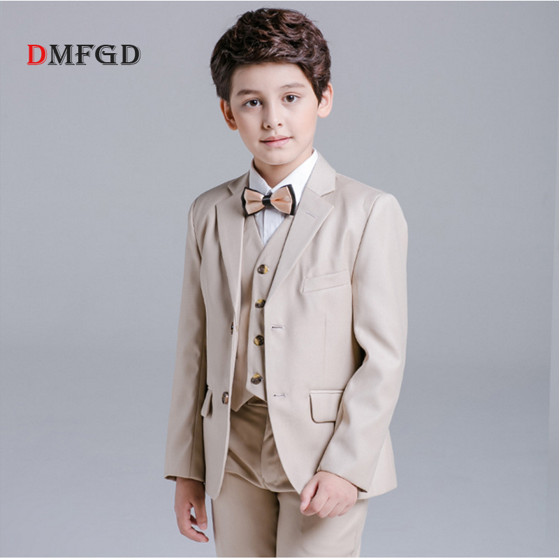 Luxury 5pcs/set boys suits children coat shirt vest  student leisure spring blazers ceremony costume piano performance clothes<br>