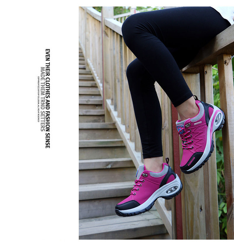 17 High quality Sneakers women shoes Running shoes woman leather Sport Shoes Air damping Outdoor arena Athletic zapatos mujer 14