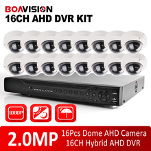 BOAVISION 1080P 16CH AHD DVR Security Kit Night Vision Outdoor Dome 2MP AHD Camera Home DIY 1080P CCTV AHD Camera System