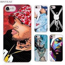 BINYEAE Chris Brown Breezy RNB Clear Cell Phone Case Cover for Apple iPhone 4 4s 5 5s SE 5c 6 6s 7 7s Plus