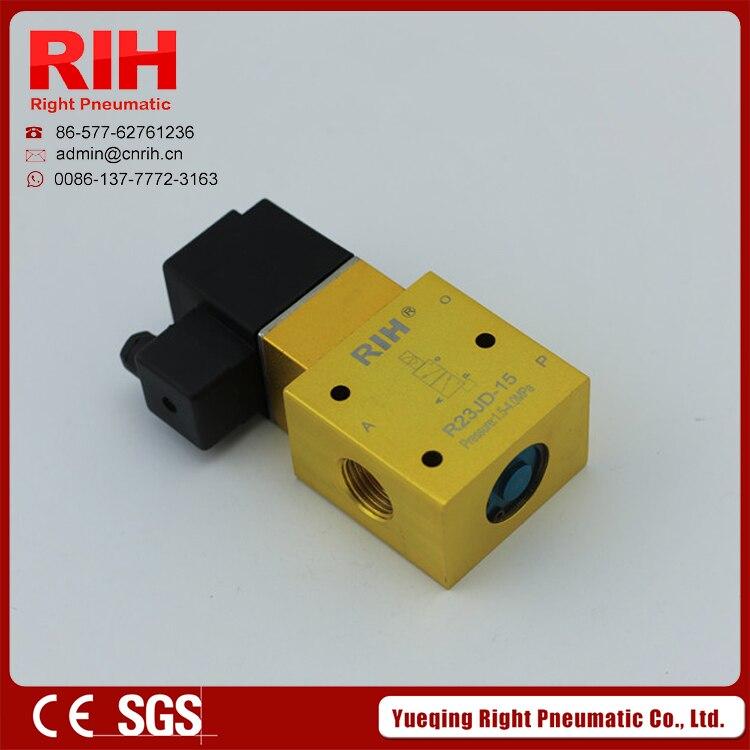 RIH Pneumatics R23JD High Pressure Solenoid Valve without pilot  R23JD-15 0-4Mpa<br><br>Aliexpress