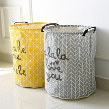 40*50cm Folding Laundry Basket Yellow Arrow Couple Storage Barrel Large Laundry Storage Basket Toy Clothes Storage Basket V3382(China)
