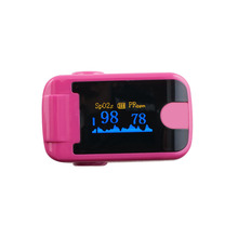 10 PC Finger Pulse Oximeter With Audio Alarm & Pulse Sound  Finger Clip SPO2 PR Small OLED Display Blood Oxygen Meter Rose Red