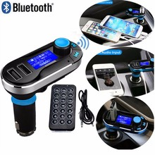 Bluetooth FM Transmitter Module Car Kit MP3 Players With USB SD Aux-in Handsfree Remote Control Car Charger For iphone Samsung