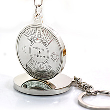 Keychain compass Keychain personality calendar advertising gift lovers Keychain can be customized logo
