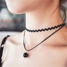 H:HYDE collar Jewlery Vintage Stretch Tattoo Choker Necklace Punk Retro Gothic Elastic Pendants Necklaces for women lady gift(China)