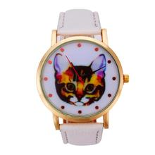 Vogue Cartoon Cat Watch Women Wrist Leather Strap Quartz Watches Men Fashion Brand Cheap Watches Women's Dress Clock Montre