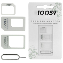 Nano Sim Card + Micro Sim Adapter + Standard Sim Card Adapter + Eject Pin Key For iPhone 7 6 6s Plus 5 5s 5c SE 4 4S Samsung