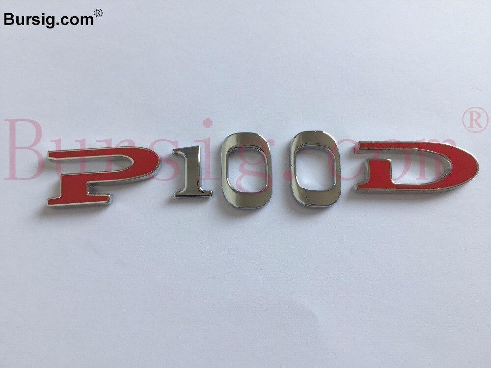 PD 100 Rear Sticker Badge Emblem 3D Custom Logo Badge for Auto Car Tesla Model S P100D<br>