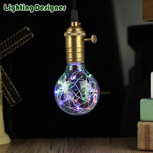 G80 LED Edison bulb rgb Flash lamp Lighting party Firework string light holiday Christmas Decoration lampada bubble ball bulb(China)