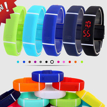 Manufacturers selling candy color LED touch Korea fashion bar watch jelly watch sports bracelet bracelet watch