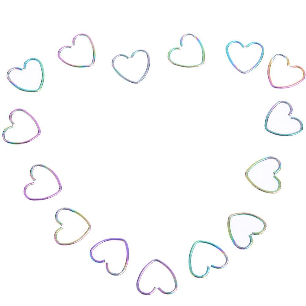 Showlove-10pc Titan Cz Gem Segment Sleeper Labret Ring Lippen Nase Ring Knorpelohrring Nase Hoop Piercing Schmuck Schuhe