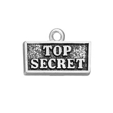 HAEQIS Alloy Top Secret Square Vintage Charms For Sisters 50pcs 12*17mm AAC719(China)