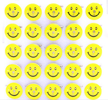 50 pcs Popular Smile Face Face Led Badge Flashing Brooch kid gifts Party Supplies Light Children Party Decoration kid gifts(China)