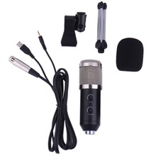 Wired Microphone with Stand for Network Video Conference Network Recording USB Condenser Sound Recording Audio Processing