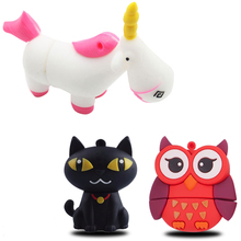 Pendrive 128GB Cat 64GB Unicorn 16G pokemon usb flash drive cute horse pen drive 4G 8G 32G flash memory black cartoon U disk