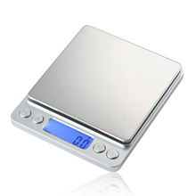 Buy Mini Scale Portable Digital Electronic Pocket Scale LCD Precision Kitchen Food Jewelry 1000g x 0.1g 2 Tray Digital Weight Scales for $11.40 in AliExpress store
