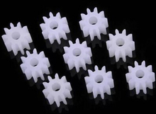 30pcs diameter 6mm / 2mm hole / 10 tooth 0.5 modulus plastic gear motor / spur gear / toys accessories / DIY Toy 102A(China)