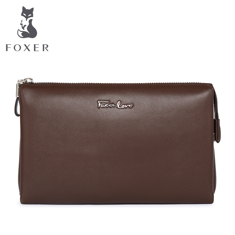 Foxer Brand Women &amp; Men Stylish Genuine Leather Wallet &amp; Card Clutch mens Cowhide Wallets cellphone bags<br>