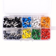 400pcs/set Insulated Cord Pin End Terminal Ferrules Kit Set Wire Copper Crimp Connector AWG 22 - 10