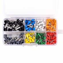 400pcs/set Insulated Cord Pin End Terminal Ferrules Kit Set Wire Copper Crimp Connector AWG 22 - 10(China)