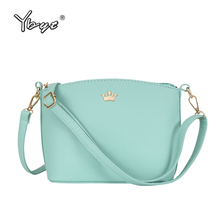 YBYT brand 2017 new small joker leisure Imperial crown shell package high quality women shopping handbags ladies shoulder bags(China)