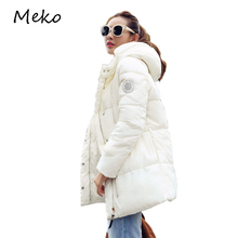 Winter designer women jacket cotton down white jacket women slim Warm Clothes girl outwear snow parka jacket Cool hooded WC023
