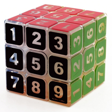 Transparent Rubik Cube Antistress with Figure Number Digit for Kids Smooth Creative Magic Cube Spinner 3*3*3