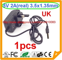 5V 2A AC - DC 3.5mm 1.35mm UK PLUG Adapter wall Charger for Tablet MID PC TV BOX(China)
