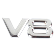Metal 3D V8 Engine Displacement Car Badge V8 Emblem Logo Sticker V8 Auto Car Decal Badge Styling