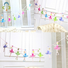 2016 New Ballet girls letter paper Flag banner girl Princess flags baby shower Adults party birthday decoration supplies GYH
