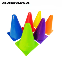 "MACHUKA 10pc/lot sell Multipurpose 7"" Sports Training Cones Soft Durable Traffic Cones Equipment for Soccer Football Basketball(China)"